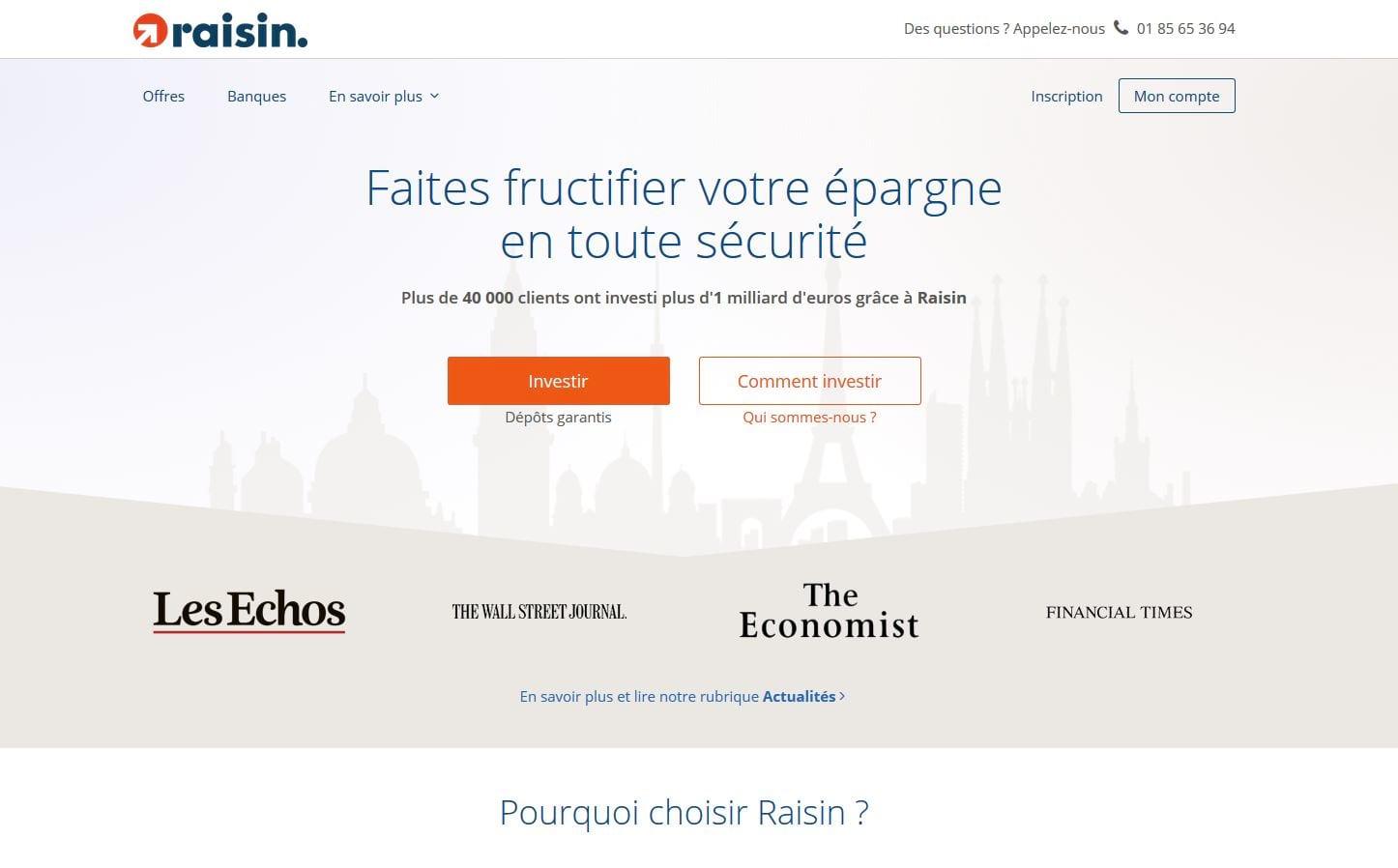 Raisin launches platform for France