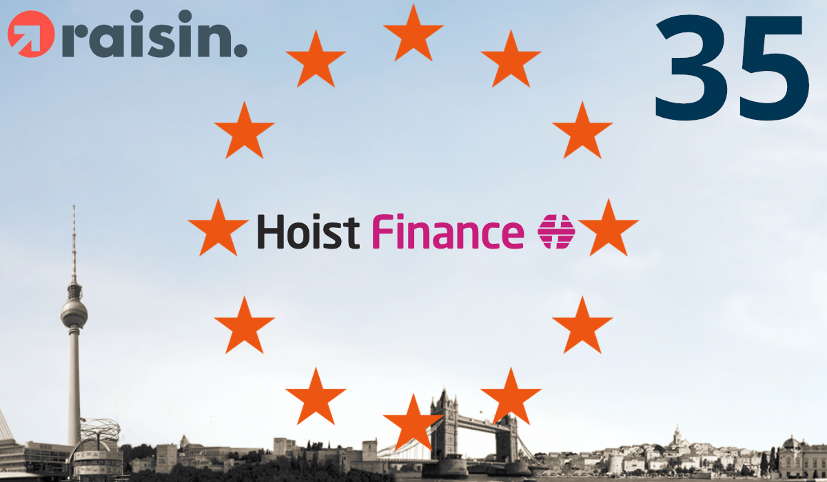 Raisin Makes Saving Possible with a Minimum of 1,000 Euro – Hoist Finance from Sweden Is Partner Number 35